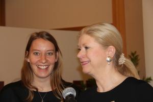 Zonta International Präsidentin und Golden Z Club Wien Präsidentin (von re nach li)